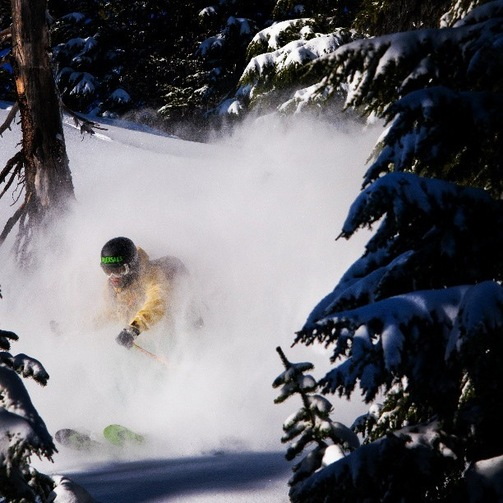 Scott Rowley Skiing Powder in